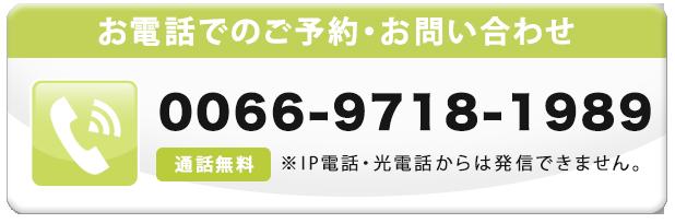 無料通話番号 0066-9718-1989