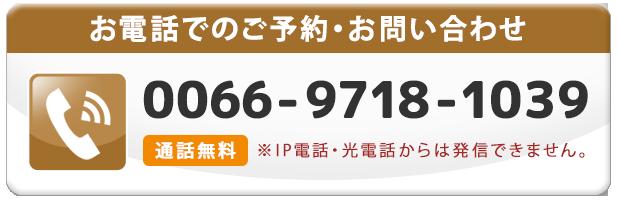 無料通話番号0066-9718-1039