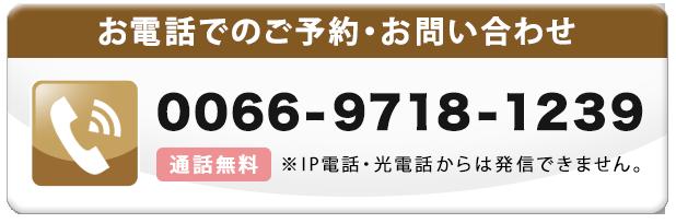 無料通話番号0066-9718-1239